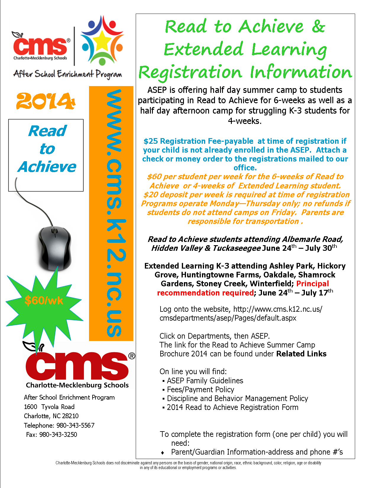 ASEP Read to Achieve Registration Flyer 2014
